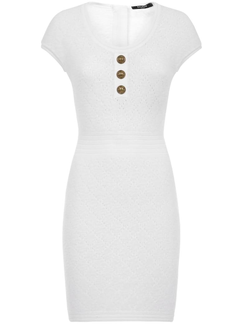 Balmain Paris Mini Dress - White