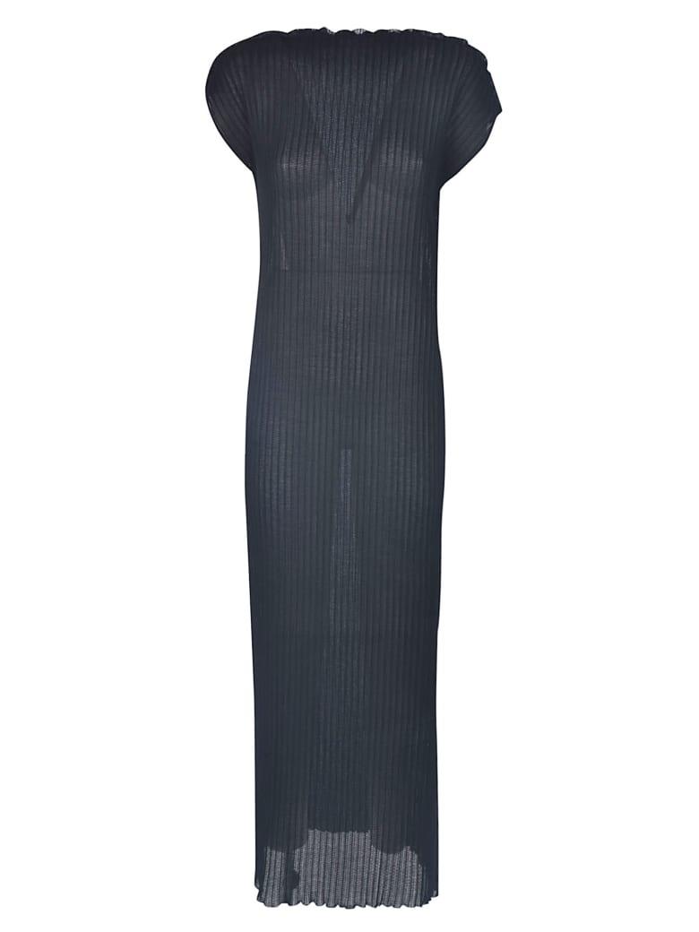 Jil Sander Stripe Laced Long Dress - Nera