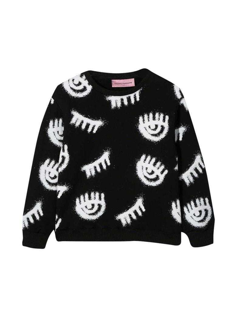 Chiara Ferragni Black Sweatshirt With - Nero