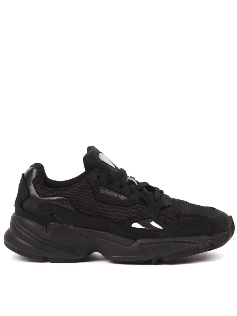 Adidas Originals Falcon Black Nylon Sneakers - Black