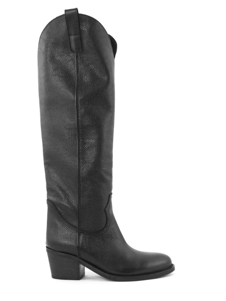Via Roma 15 Black Leather Boots - Nero