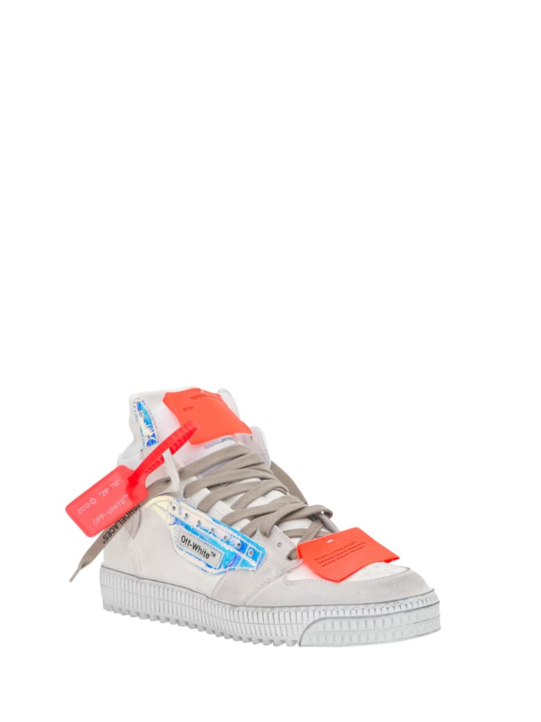 Off-White Off-court Sneakers With Iridescent Detail - Bianco