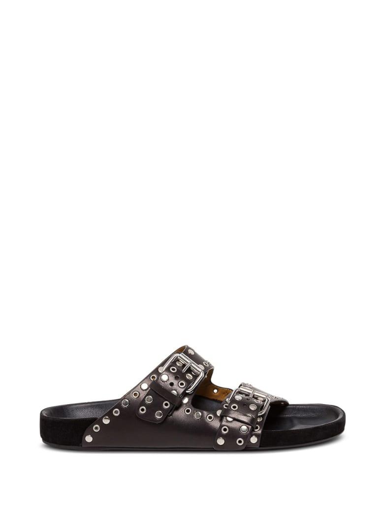 Isabel Marant Studded Leather Sandals - Black