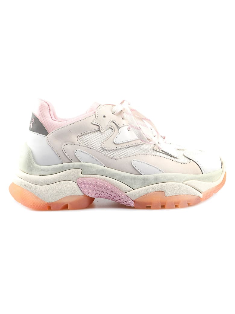 Ash Sneakers Nappa Calf - White/fluo Pink