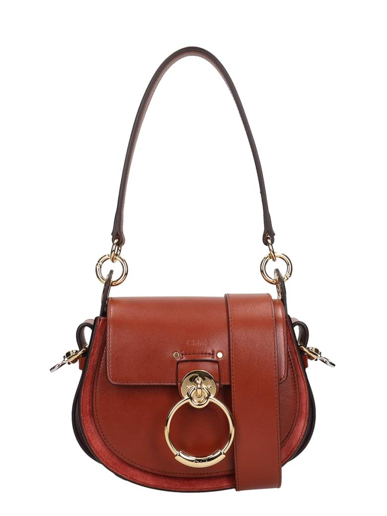Chloé Brown Leather Small Tess Bag - brown