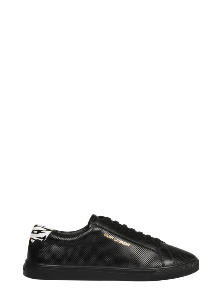 Saint Laurent Andy Low Top Sneakers - Black