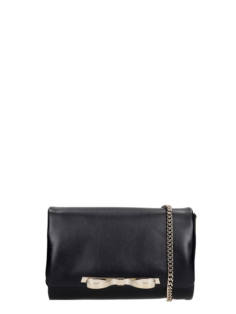 RED Valentino Clutch In Black Leather - black