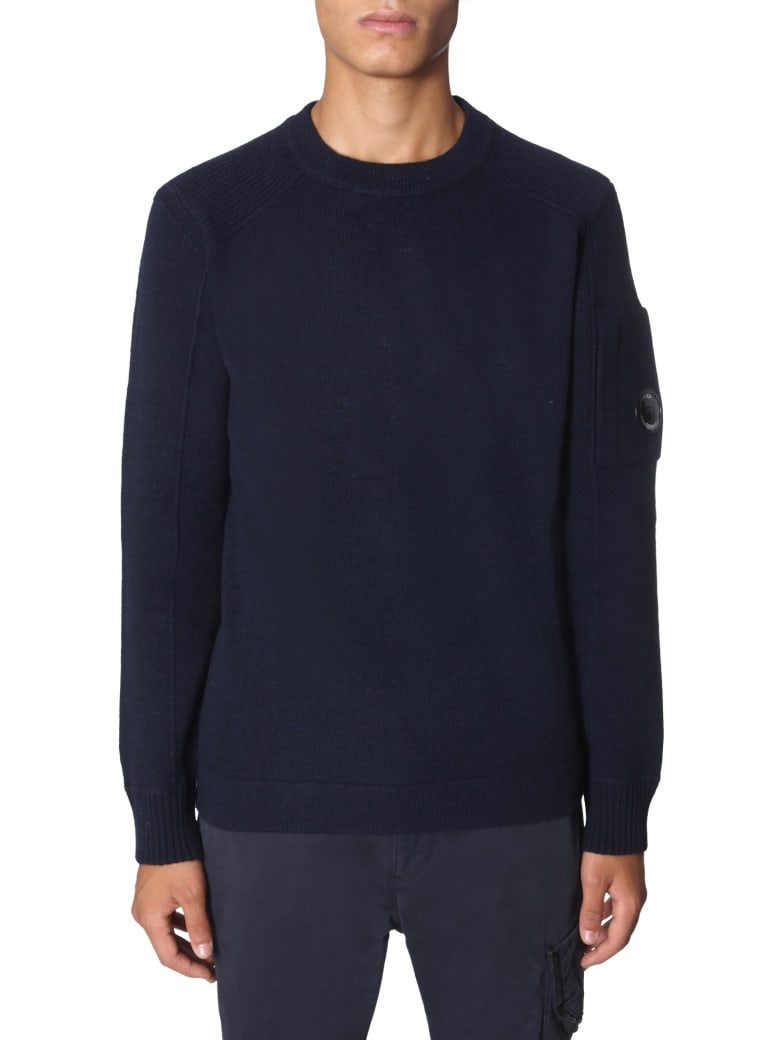 C.P. Company Crew Neck Sweater - BLU