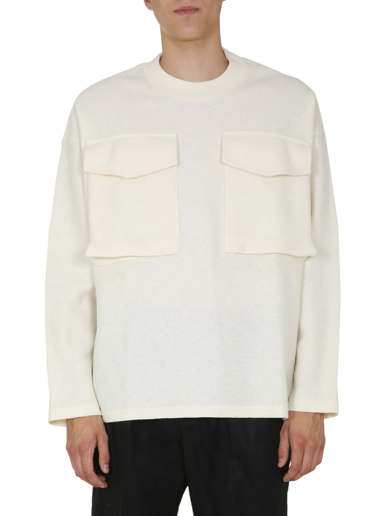 Jil Sander Round Neck Sweatshirt - BIANCO