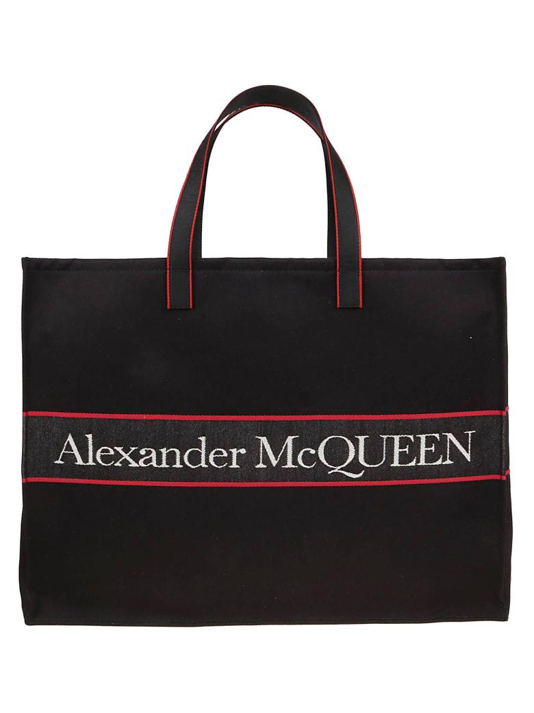Alexander McQueen Travel Bag - Black L Red Off W
