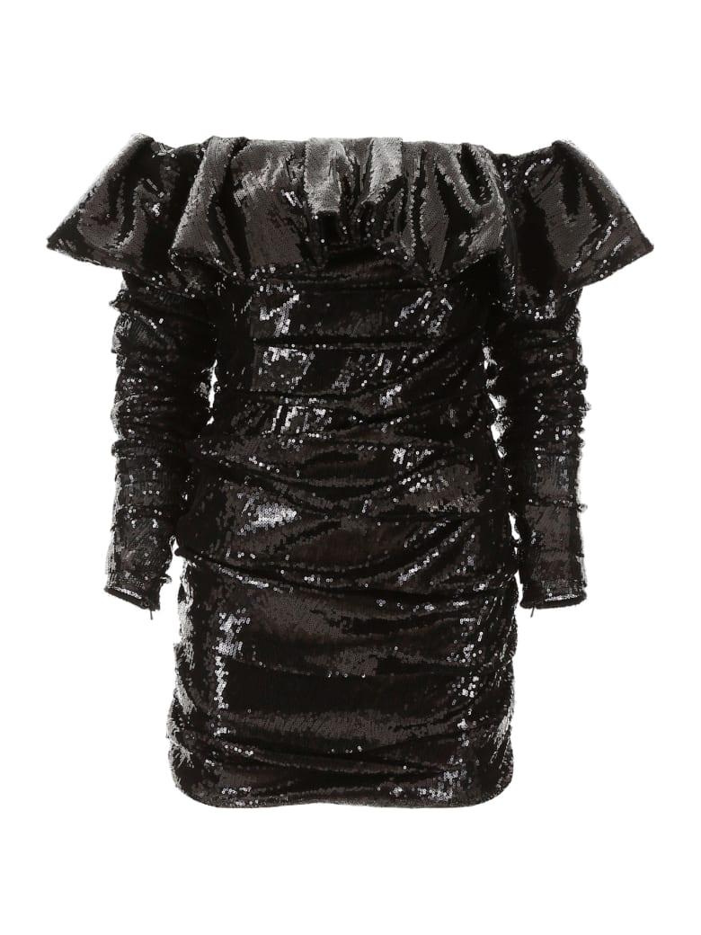 The Attico Sequins Mini Dress - BLACK (Black)
