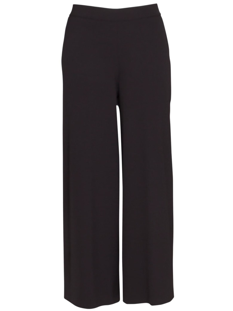 Stefano Mortari Cropped Palace Trousers In Black - NERO