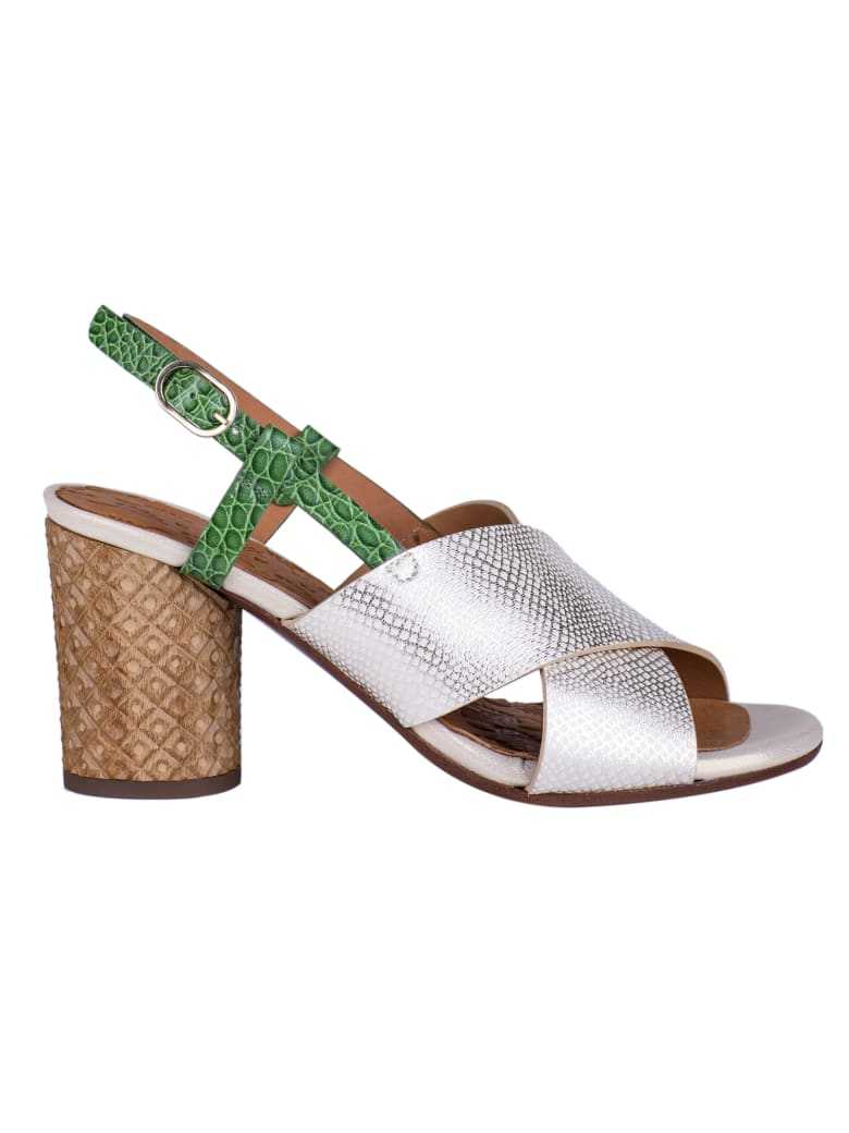 Chie Mihara Opera Sandals - Gold/Silver