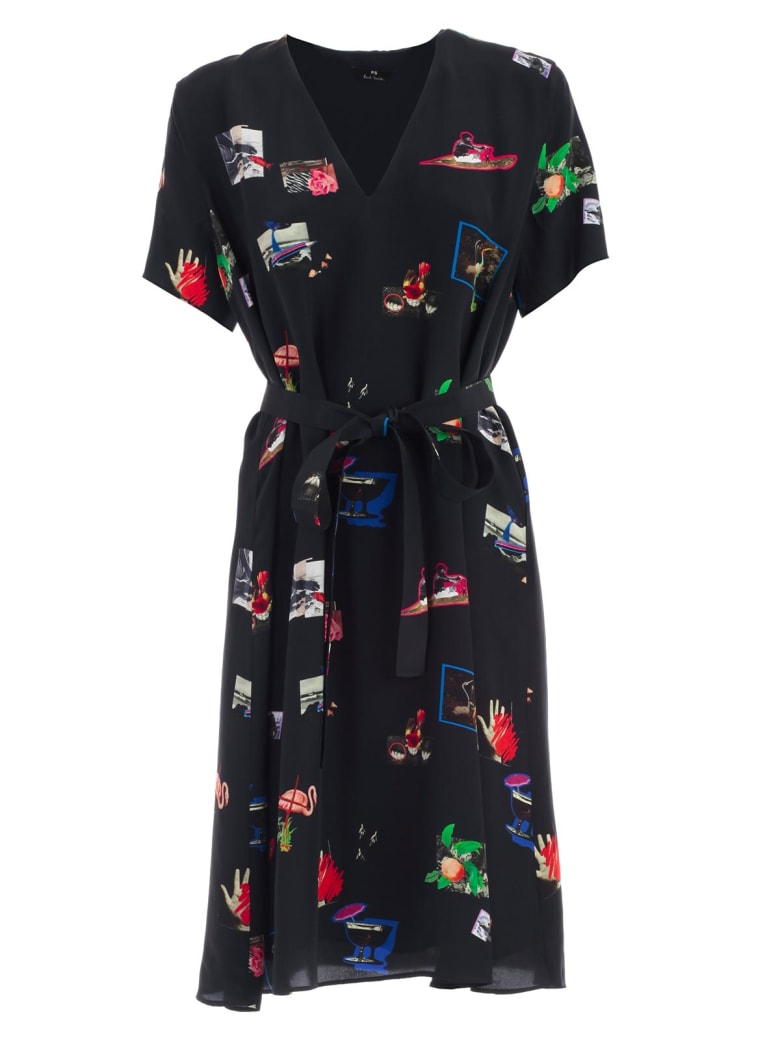 PS by Paul Smith Printed Dress - Dk Na