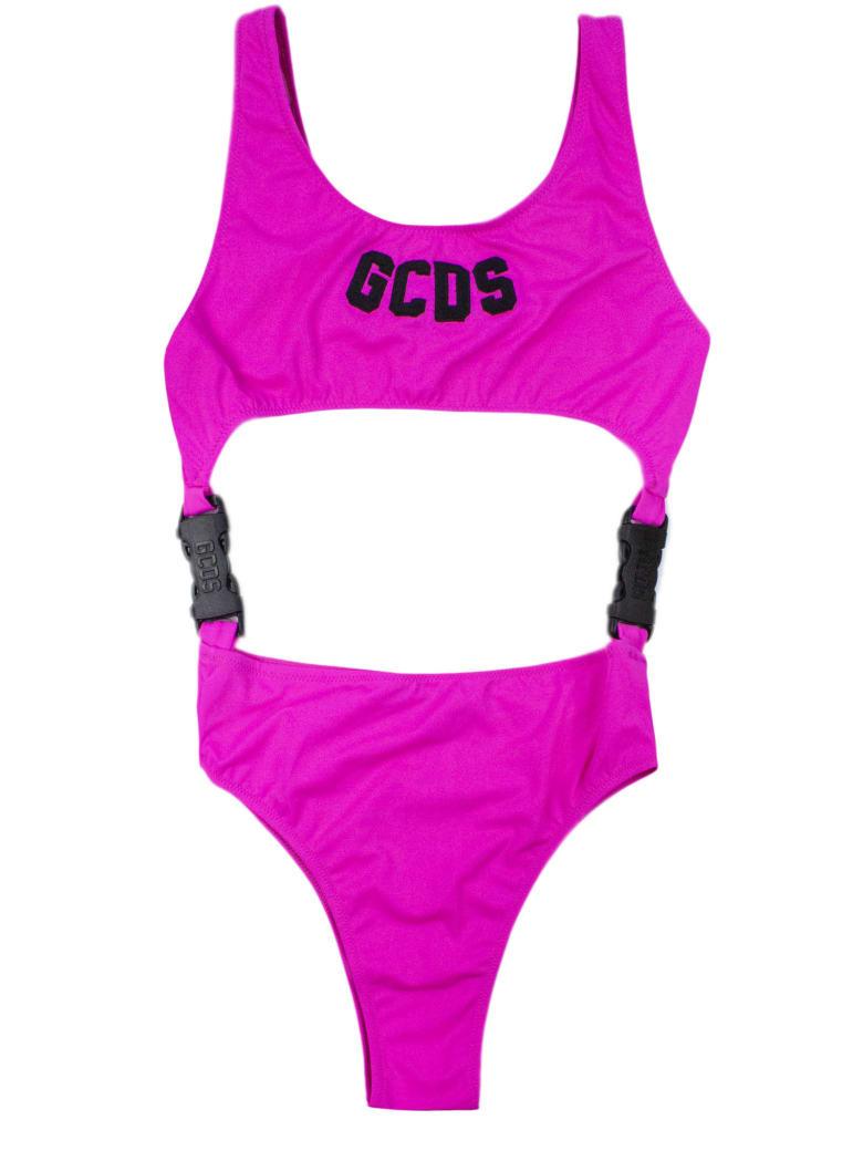 GCDS Pink Oblo Swimsuit - Fuxia