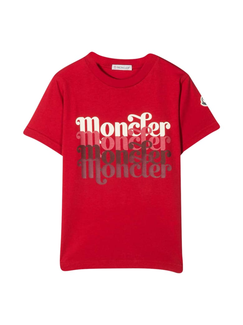 Moncler Red T-shirt With Print - Unica