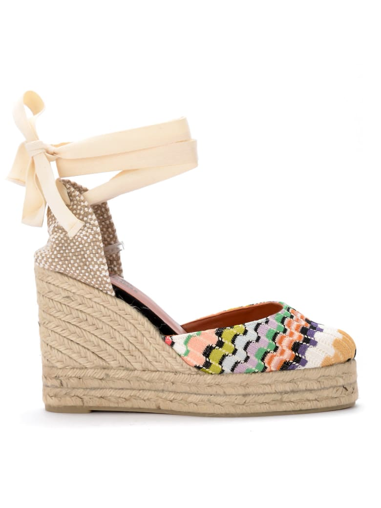 Castañer By Missoni Carina Multicolor Sandal With Wedge. - MULTICOLOR