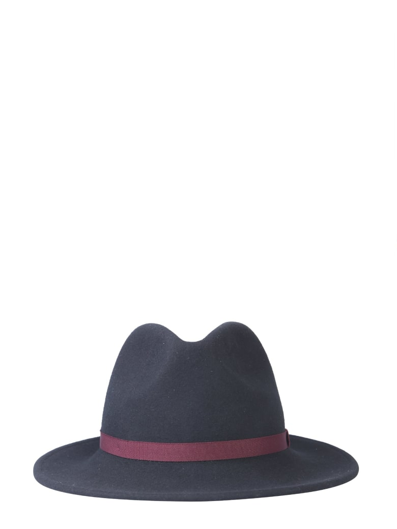 Paul Smith Large Brim Hat - NERO