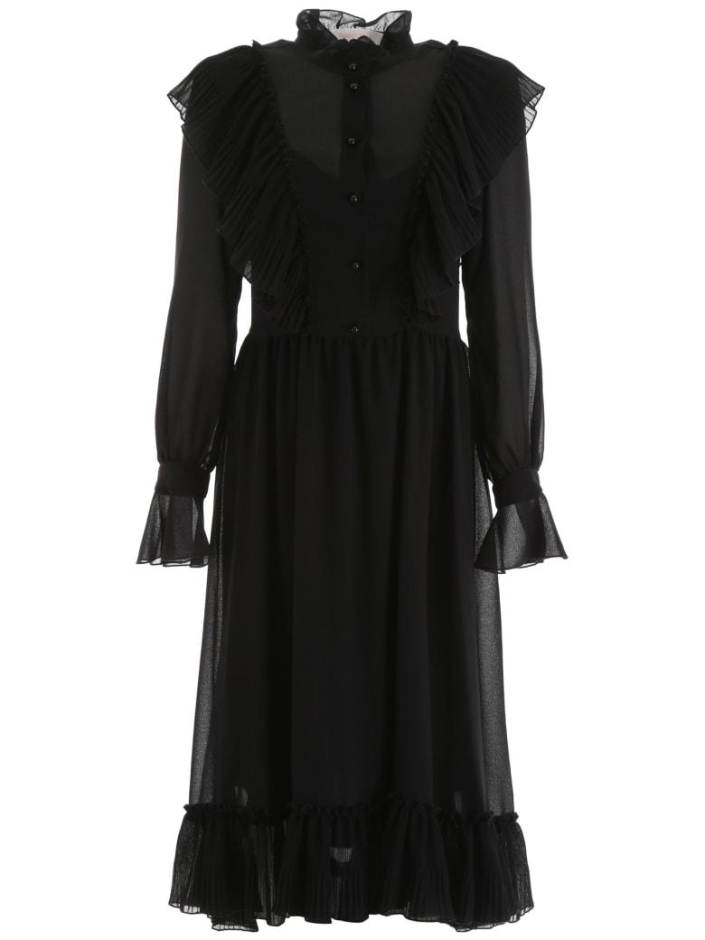 See by Chloé Ruffled Dress - BLACK (Black)