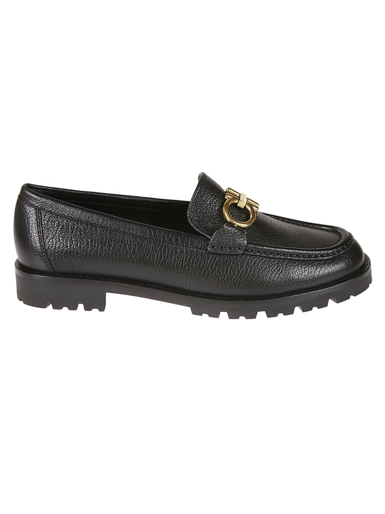 Salvatore Ferragamo Rolo Loafers - Black