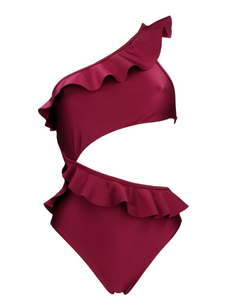 Zimmermann 'poppy' Beachwear - Burgundy