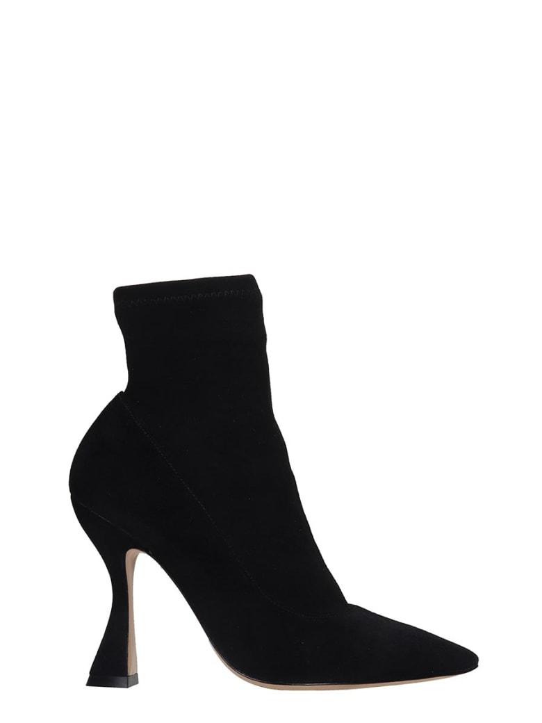 Sophia Webster Minerva Ankle Boots In Black Suede - black