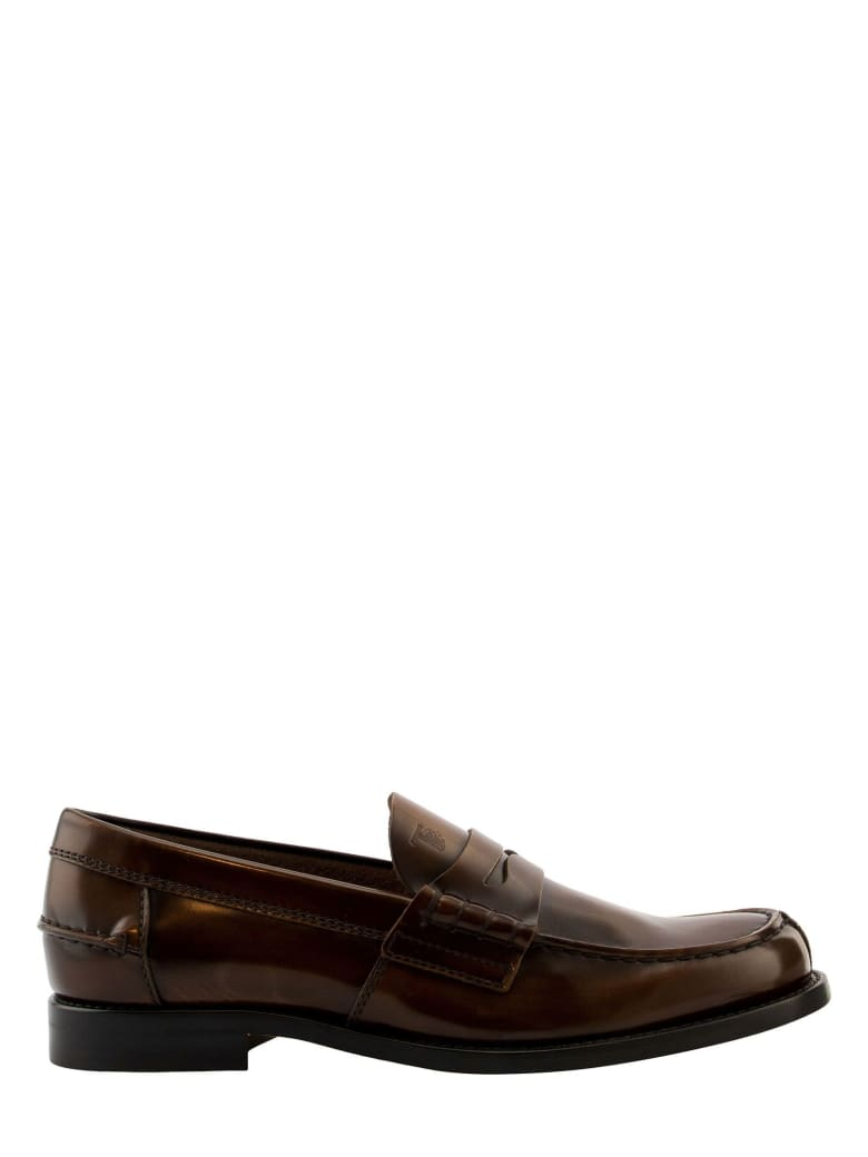 Tod's Loafers In Leather - Cognac