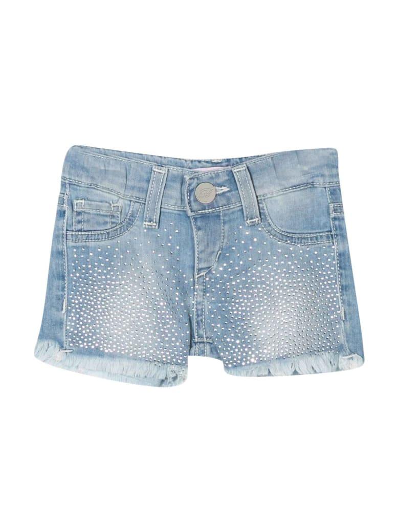 Miss Blumarine Denim Shorts With Decorations - Denim