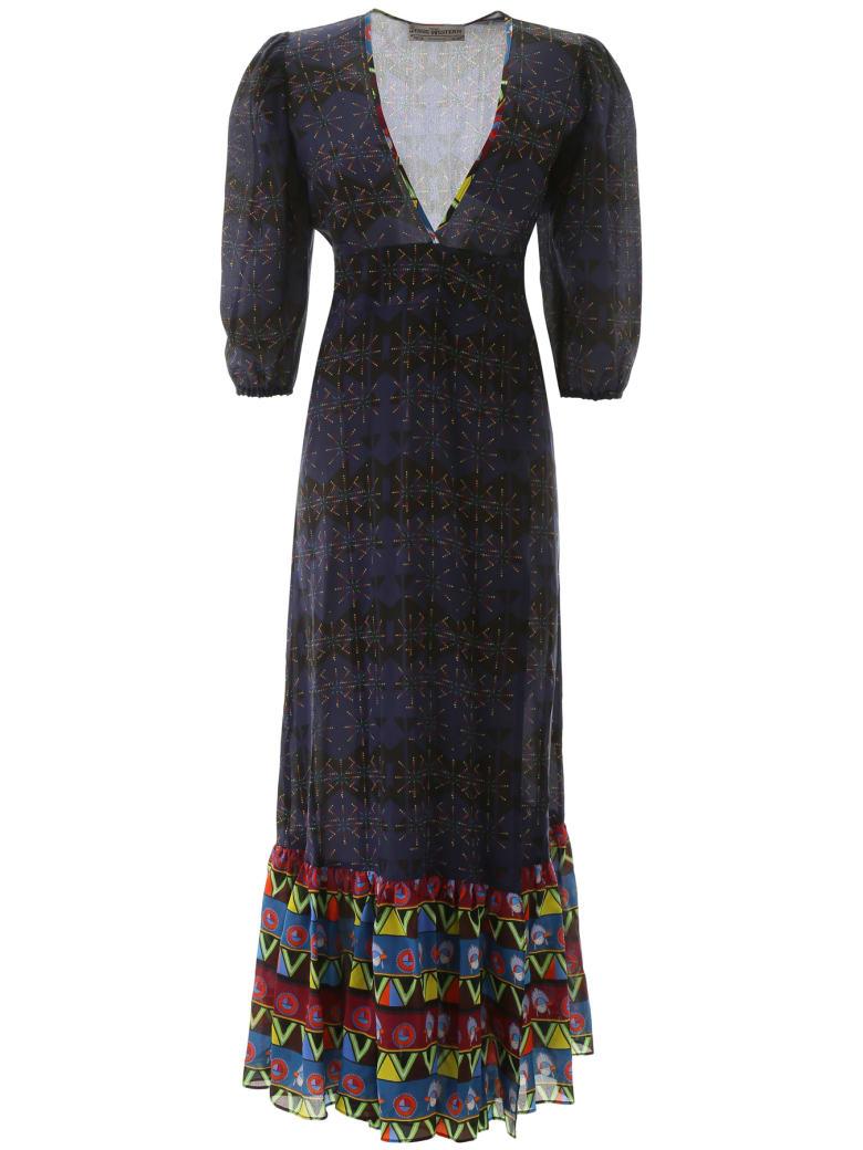 Jessie Western Rainbow Stars Long Dress - BLUE BLACK (Blue)