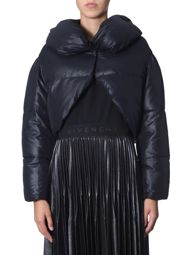 Givenchy Cropped Down Jacket - NERO