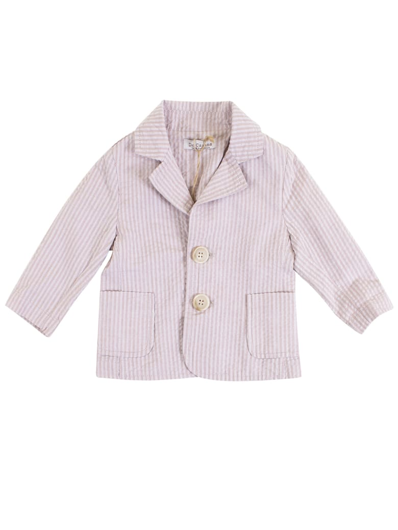 De Cavana Newborn Striped Jacket - Pink