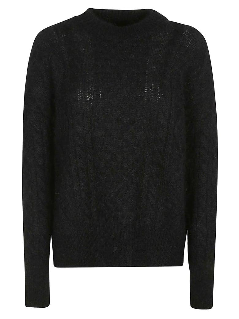 Laneus Round Neck Knitted Jumper - Black