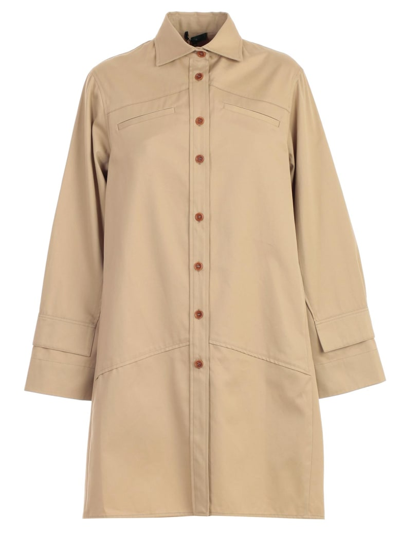 Jejia Trench Shirt Over Cotton - Beige