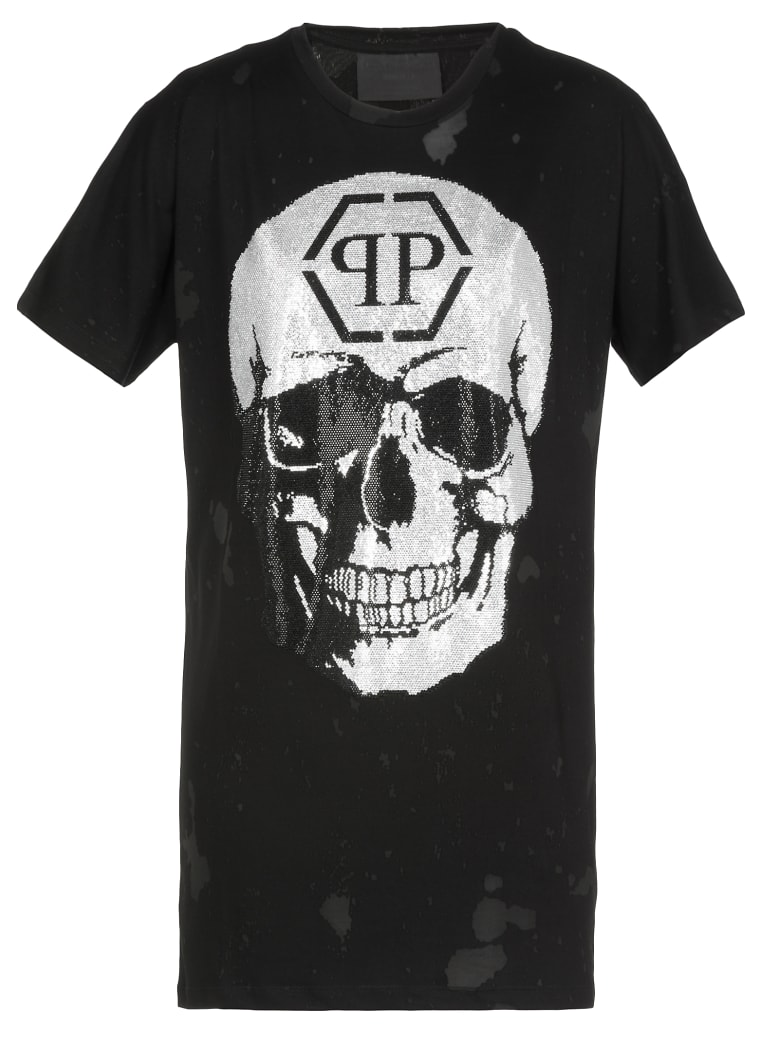 Philipp Plein Dress With Skull - BLACK