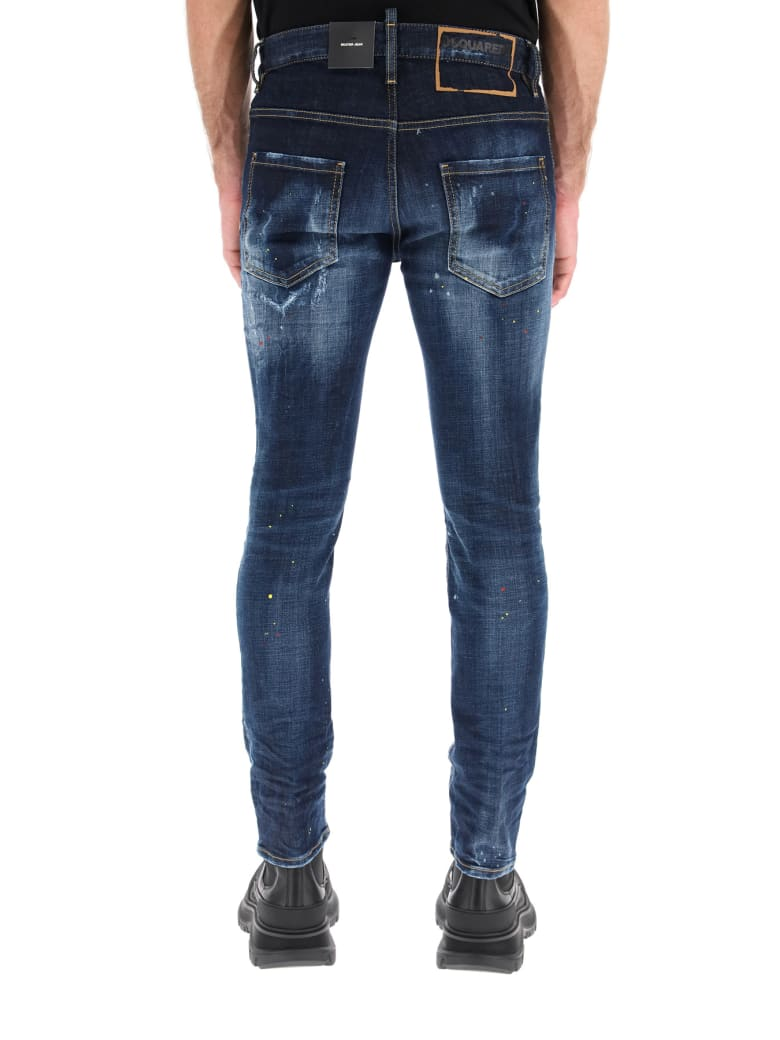 Dsquared2 Dark 1 Wash Skater Jeans - Blu