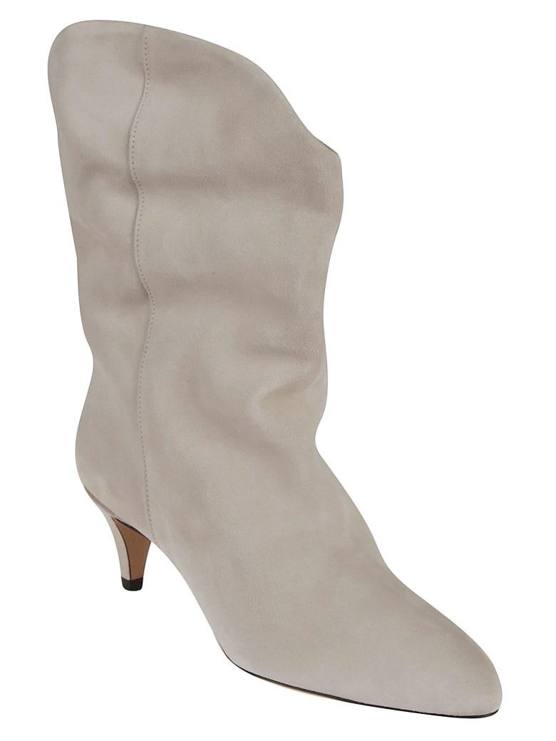 Isabel Marant Velvet Classic Boots - White