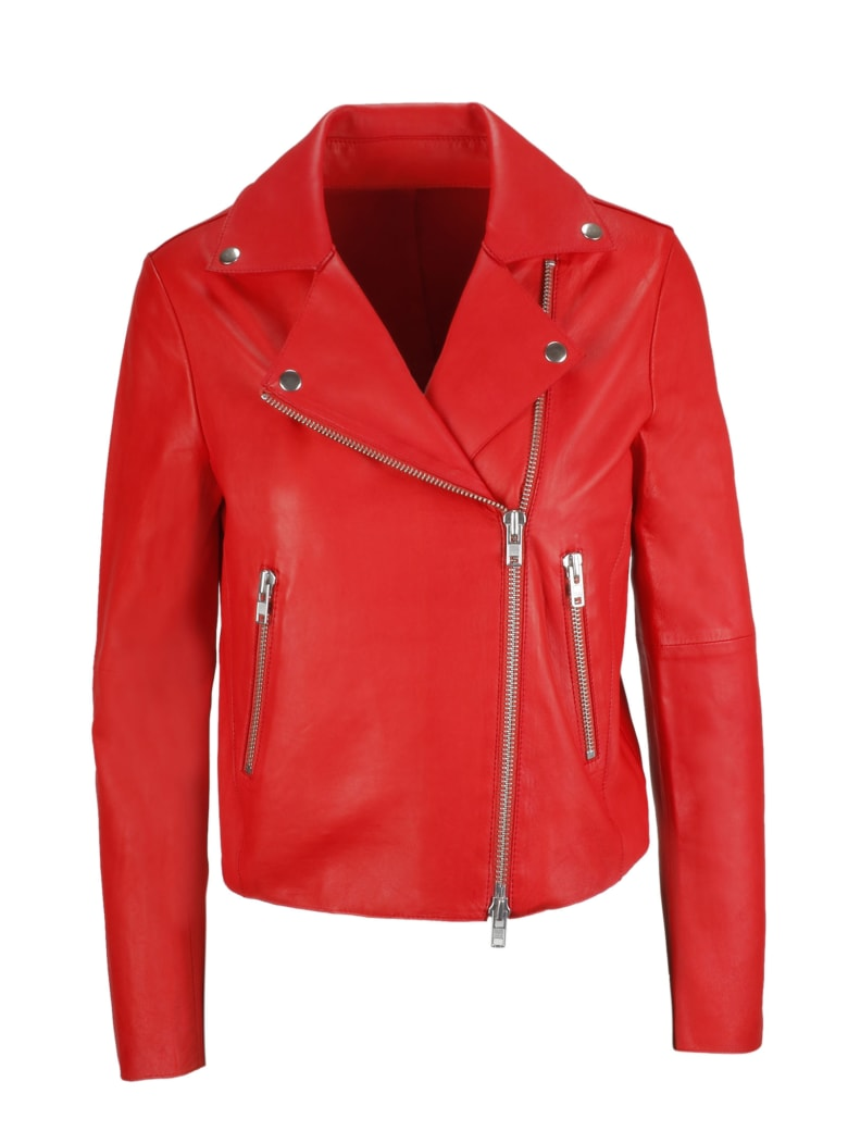 S.W.O.R.D 6.6.44 Leather Jacket - Rosso