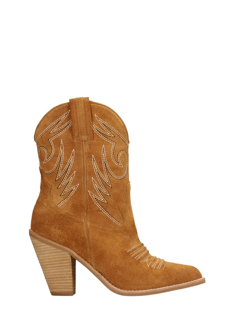 Jeffrey Campbell Light Brown Suede Ankle Boots - leather color
