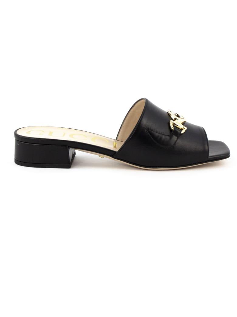 Gucci Gucci Zumi Slide Sandal - Nero