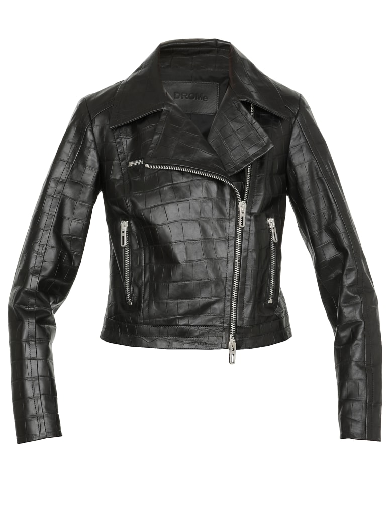 DROMe Leather Jacket - BLACK