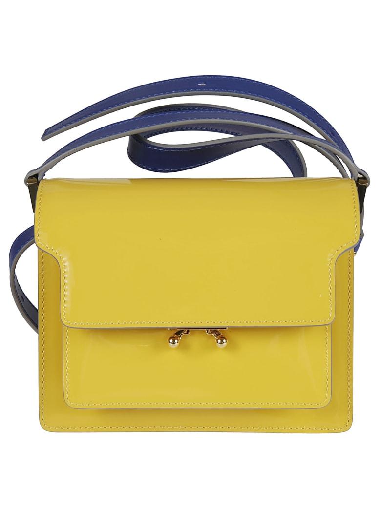 Marni Snap-lock Shoulder Bag - Yellow/Blue