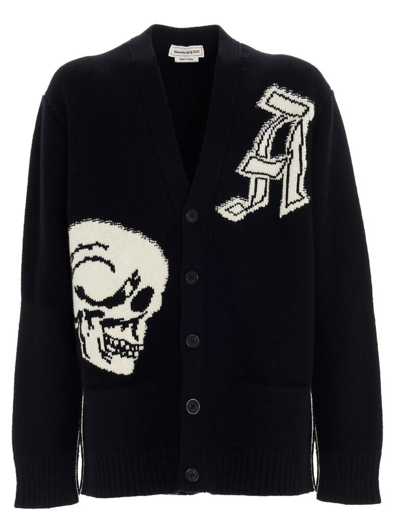Alexander McQueen 'skull' Cardigan - Black