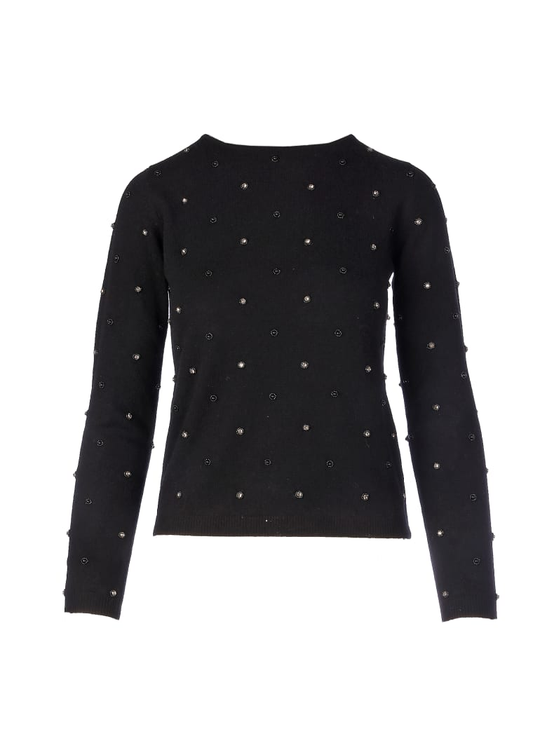 Max Mara Pianoforte Dolmen Pearls And Stone Sweater - Nero Unito