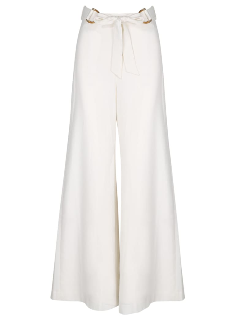 Zimmermann Crepe Belted Pant - White