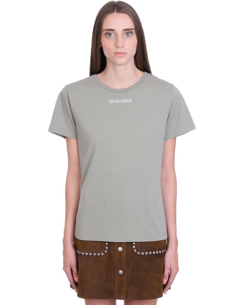 Golden Goose Ania  T-shirt In Khaki Cotton - khaki