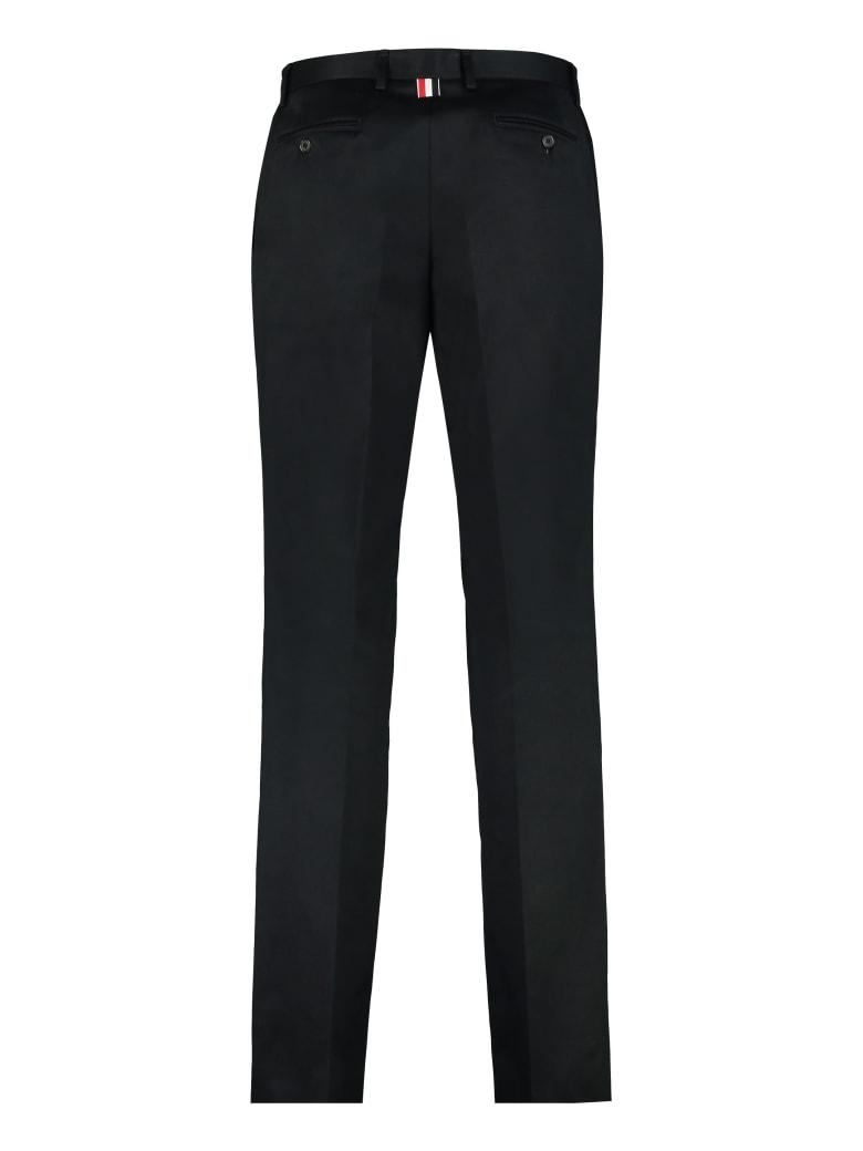 Thom Browne Cotton Gabardine Trousers - blue