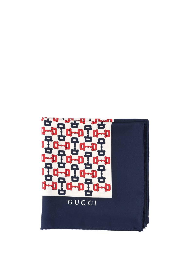 Gucci Horsebit Print Foulard - White