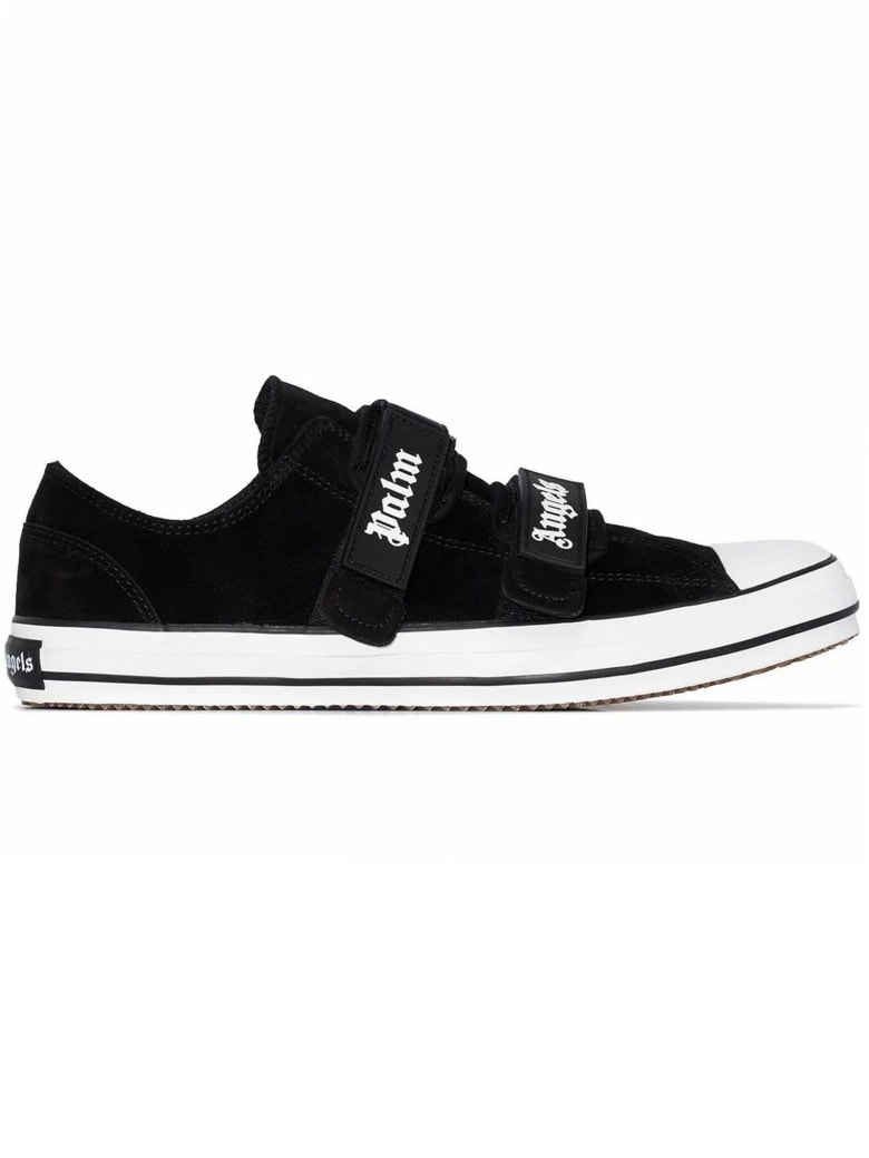 Palm Angels Black Suede Low-top Sneakers - Nero