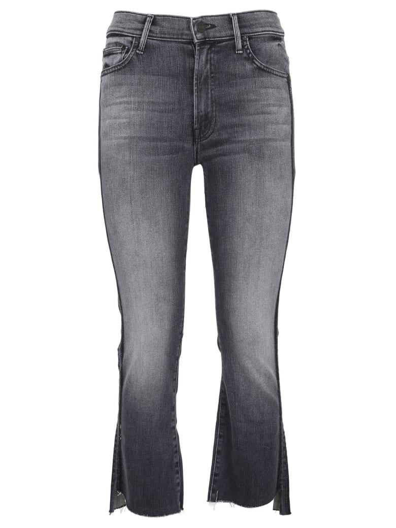 Mother Cropped Jeans - Grey