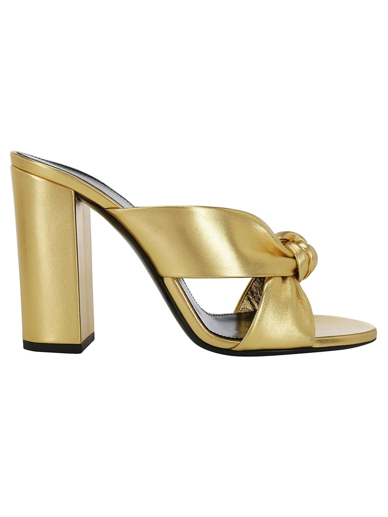 Saint Laurent Loulou Sandals - Oro